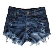 Shorts Jeans Feminino Cintura Alta Desfiado Hot Pants St003