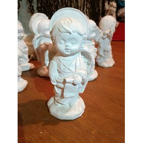 Juego De 7 Arcangeles Yeso Ceramico Blanco Para Pintar