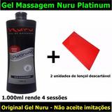 1.000ml Gel Massagem Corporal Nuru Platinum + Lençol
