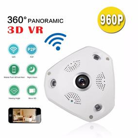 Camera Ip Hd Panoramica 360 Wifi Lente Olho De Peixe 1,3 Mp