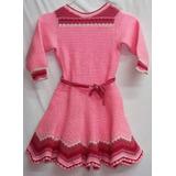 Vestido Niña Tejido Al Crochet Super Abrigado Y Divertido