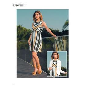 Vestido 15002 A Rayas Verde Amarillo Marinero Rinna Bruni Ma