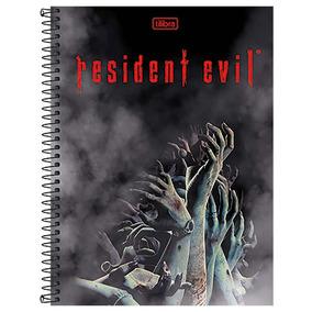 Caderno Resident Evil - Mãos - 1 Matéria - Tilibra