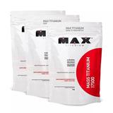 Combo 3x Massa Hipercalorico Max Titanium 9kg