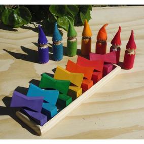 Set Trapezoide De Madera Waldorf - Montessori Albura Toys