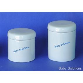 Kit De Higiene Para Bebê - 2 Peças- Porta Algodao E Cotonete