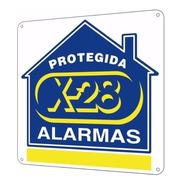 Cartel Disuasivo Seguridad Propiedad Protegida Alarma X-28
