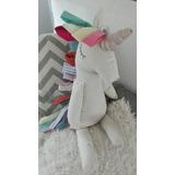Muñeco De Tela Artesanal Unicornio
