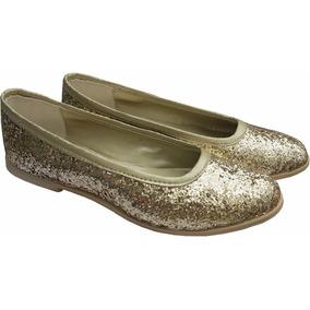 Zapatos Balerinas De Brillos O Glitters Para Dia O Fiesta