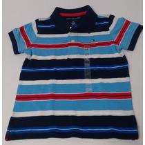 Camisa Polo Tommy Hilfiger Listrada Infantil Tamanho 3 Anos