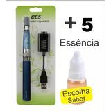 01 Cigarro Eletrônico Narguilé Caneta Ego Ce5 +05 Essência.