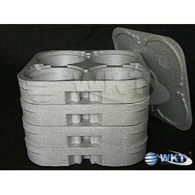 Embalagem Marmitex Isopor Kit 4 Bandejas 1 Tampa