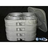 8 -bandejas Marmitex N.8 Em Isopor + 2 Tampas