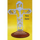 Souvenir Primera Comunión Cruz Todo Madera Personalizado