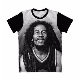 Camiseta Bob Marley Face - Camisa Bob Marley Reggae