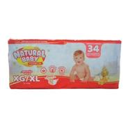 Natural Baby Premium Fralda Mega Xg C/34