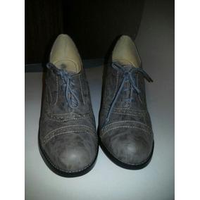 Oferta!! Zapatos Tipo Oxford Color Gris