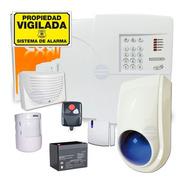 Kit Alarma Domiciliaria Inalambrica Con Avisador Telefónico