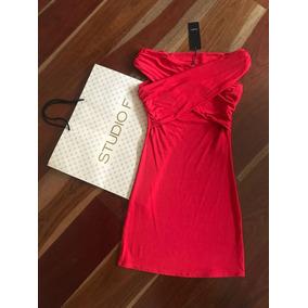Vestido Rojo Cruzado Adelante Studio F