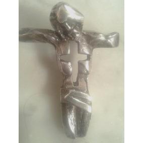 Vintage Antiguo Jesus Cristo Plata 900 Cuño A Belgiorno