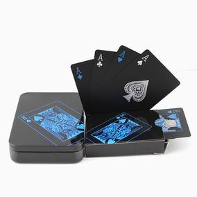 Baralho Arcane Preto Luxo Impermeável - Pôquer Mágica Truco