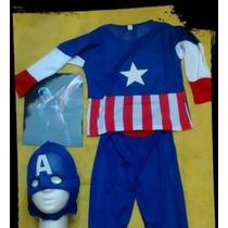 Disfraz Capitan America Niños Talles S M L - Envios