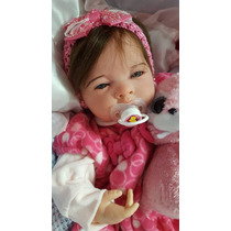 Bebe Reborn Alice Linda Corpo Em Tecido Articulado