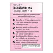 Blocos Cuidados Pós Design Com Henna E Sobrancelha C/100fls