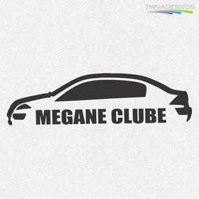 Kit 3x Adesivo Megane Clube Carro Personalizado 22cm A933