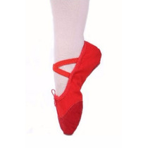 Zapatillas Ballet Media Punta 21.5 Y 23.5 Suaves Lona Danza