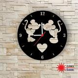 Relógio Decorativo Gama Laser Mickey E Minnie Walt Disney