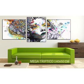 Cuadros Modernos Abstractos Murales 140x50 Cm. Oferta!!