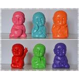 Budas Bebés De Yeso Pintados A Mano Ideal Buenas Energías