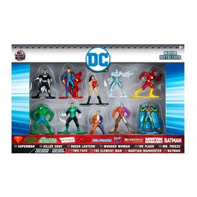 Dc Comics 10 Figuras De Metal De Coleccion Batman Super Man