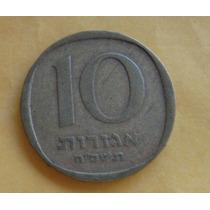 Israel: Bela Moeda De 10 Agorot 1960-80 Soberba Oferta