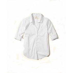 Hollister Camisa Dama Stretch Blanca Lisa