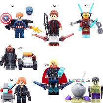 Lego Compatível Homem De Ferro Capitão América Thor
