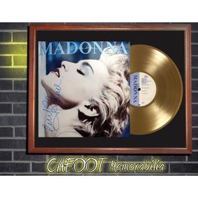 Madonna True Blue Tapa Lp Firmada Disco Oro Enmarcados