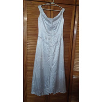 Vestido De Novia Blanco Con Canutillos Mostacillas Sencillo