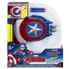 Escudo Nerf Capitão America + 12 Dardos Civil War Hasbro