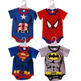 Body Super Heroes Hasta 24 Meses Superman Batman Spiderman
