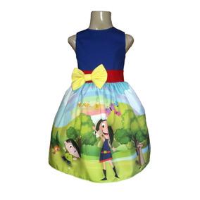 Vestido Show Da Luna Infantil Lindo Para Festa By Tia Gina.