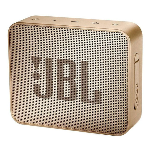 Alto-falante JBL Go 2 portátil com bluetooth pearl champagne