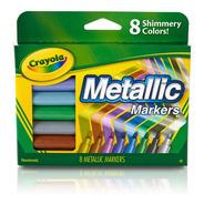Marcadores Metalizados Crayola X8 Colores Brillantes