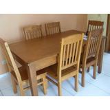 Conjunto Móveis: Rack+cristaleira+mesa 6 Cadeiras E Extensor
