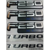 Kit Emblemas Ford F-250 Xl Turbo Diesel Laterais Traseiro