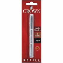 Carga Refil Crown Caneta Tinteiro Ca32005p Preta