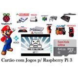 Cartão Micro Sd 64gb Multijogos Raspberry 8734 Jogos + Kodi