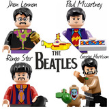Lego Tipo The Beatles Yellow Submarine Jhon Lennon Ringo
