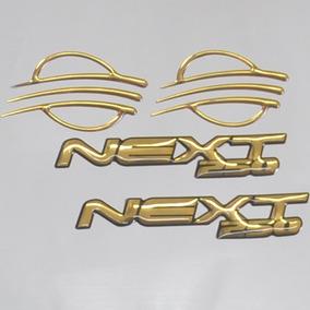 Adesivo Relevo Gold M2 Tanque Rabeta Moto Sym Dafra Next 250